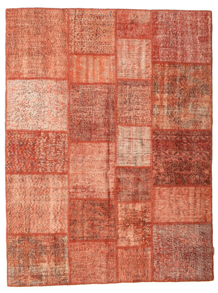 Patchwork Rug 174X232 Authentic  Modern Handknotted Light Brown/Light Pink/Rust Red (Wool, Turkey)