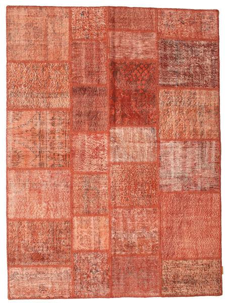Patchwork Matto 171X232 Moderni Käsinsolmittu Vaaleanruskea/Vaaleanpunainen (Villa, Turkki)