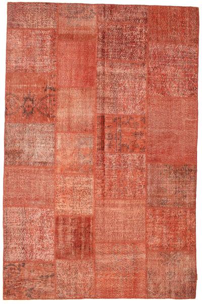 Patchwork Matto 198X302 Moderni Käsinsolmittu Vaaleanruskea/Vaaleanpunainen (Villa, Turkki)