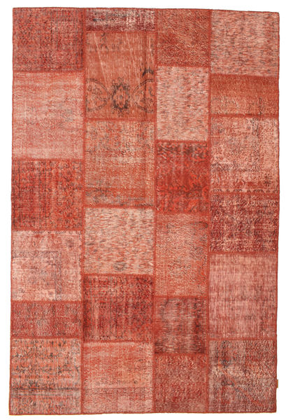 Patchwork Rug 198X301 Authentic  Modern Handknotted Light Brown/Rust Red (Wool, Turkey)