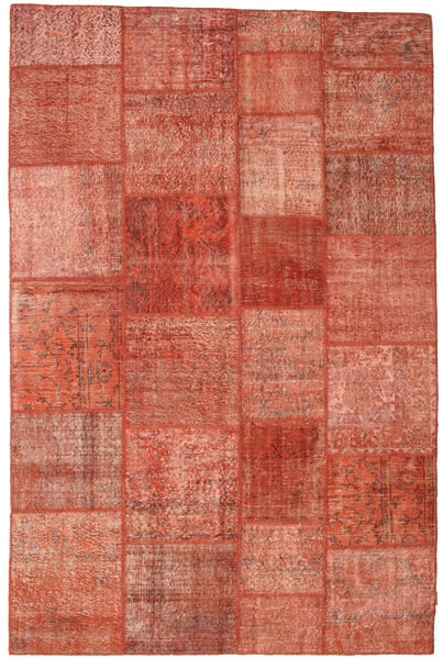 Patchwork Rug 198X301 Authentic  Modern Handknotted Rust Red/Light Brown (Wool, Turkey)