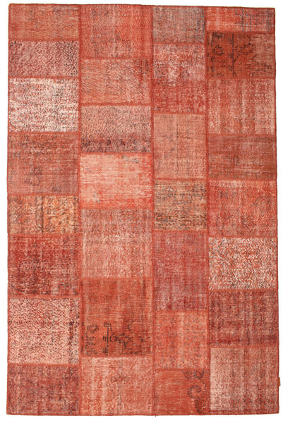 Patchwork Rug 198X302 Authentic  Modern Handknotted Rust Red/Light Brown/Light Pink (Wool, Turkey)