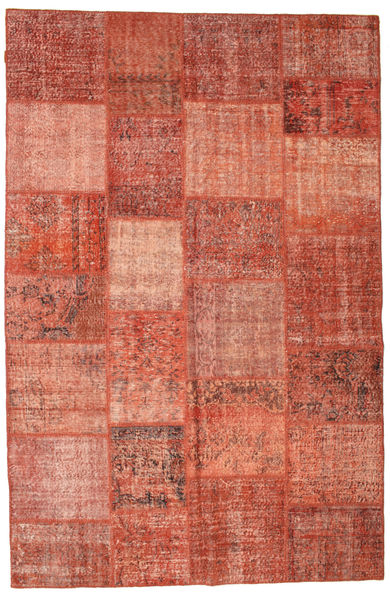 Patchwork Rug 197X300 Authentic  Modern Handknotted Light Brown/Rust Red (Wool, Turkey)