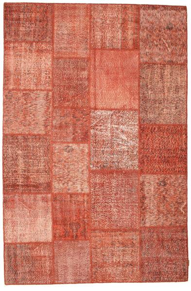 Patchwork Rug 197X301 Authentic  Modern Handknotted Crimson Red/Dark Red (Wool, Turkey)