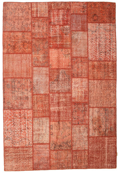 Patchwork Rug 202X298 Authentic  Modern Handknotted Light Pink/Light Brown/Brown (Wool, Turkey)