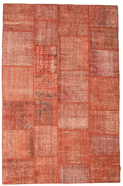 Patchwork Rug 198X302 Authentic  Modern Handknotted Light Brown/Light Pink/Rust Red (Wool, Turkey)