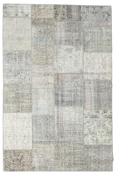 Patchwork Rug 198X301 Authentic  Modern Handknotted Light Grey/Beige (Wool, Turkey)