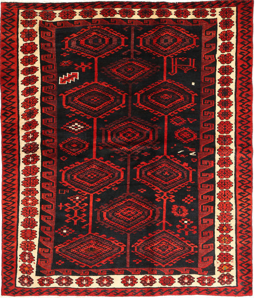 Lori Rug 173X206 Authentic  Oriental Handknotted Dark Red/Dark Brown (Wool, Persia/Iran)