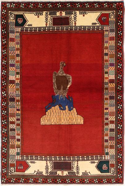 Kaszkaj Dywan 136X203 Orientalny Tkany Ręcznie Rdzawy/Czerwony/Ciemnoczerwony (Wełna, Persja/Iran)