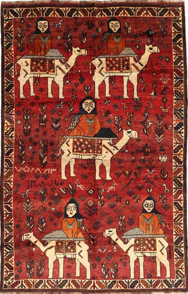 Ghashghai Matto 163X255 Itämainen Käsinsolmittu Tummanpunainen/Ruoste (Villa, Persia/Iran)