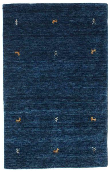 Gabbeh Loom Two Lines - Dark Blue Rug 100X160 Modern Dark Blue (Wool, India)