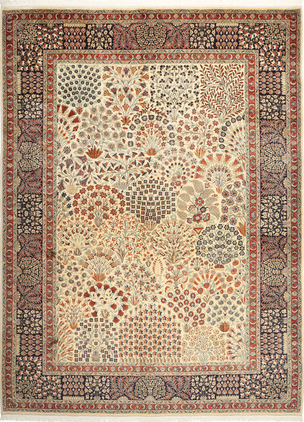 Yazd Matto 302X406 Itämainen Käsinsolmittu Vaaleanruskea/Beige Isot (Villa, Persia/Iran)