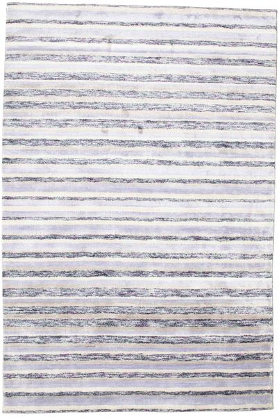 Bamboo Silk Handloom Rug 166X250 Authentic  Modern Handknotted Light Purple/Beige ( India)