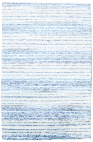 Bambou Soie Handloom Tapis 197X303 Moderne Fait Main Bleu Clair/Beige ( Inde)