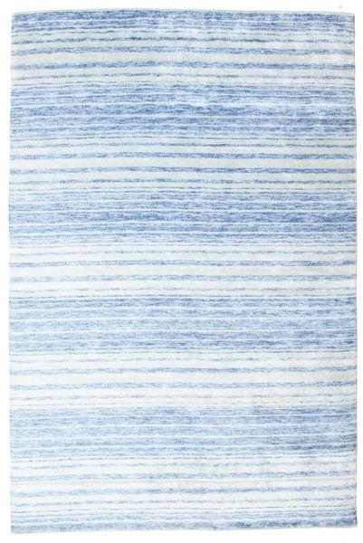 Bamboo シルク ハンドルーム 絨毯 202X304 モダン 手織り 水色/薄い灰色/ベージュ ( インド)