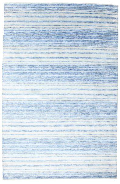 Bamboo Silk Handloom Rug 200X304 Authentic  Modern Handknotted Light Blue/Light Grey/Beige ( India)