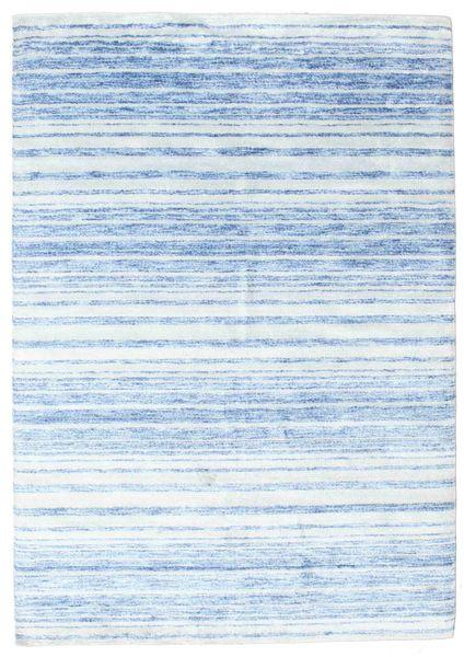Bamboo Silkki Handloom Matto 164X234 Moderni Käsinsolmittu Vaaleansininen/Beige ( Intia)