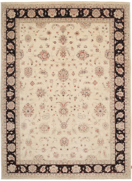 Ziegler Rug 294X405 Authentic  Oriental Handknotted Beige/Dark Brown Large (Wool, Pakistan)