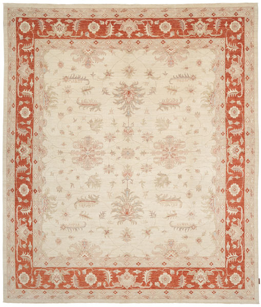 Ziegler Rug 294X345 Authentic  Oriental Handknotted Beige/Crimson Red Large (Wool, Pakistan)