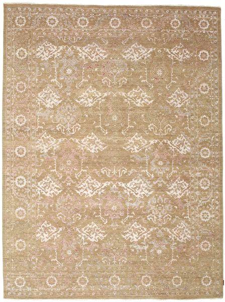 Ziegler Teppich  272X364 Echter Orientalischer Handgeknüpfter Hellbraun/Beige Großer (Wolle, Indien)