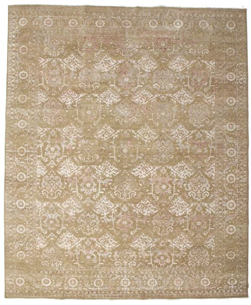 Ziegler Rug 368X446 Authentic  Oriental Handknotted Light Grey/Light Brown Large (Wool, India)