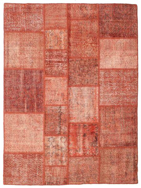 Patchwork Matto 173X231 Moderni Käsinsolmittu Punainen/Tummanpunainen (Villa, Turkki)