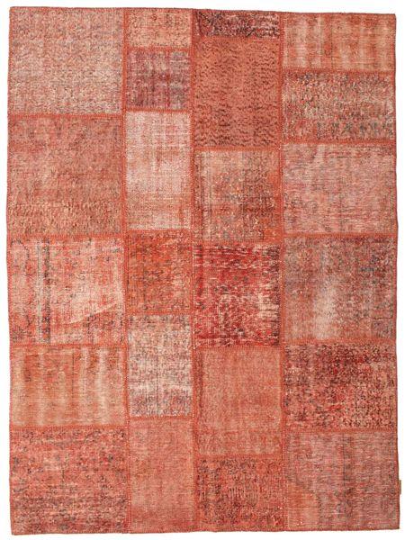 Patchwork Matto 173X233 Moderni Käsinsolmittu Vaaleanruskea/Vaaleanpunainen/Ruskea (Villa, Turkki)