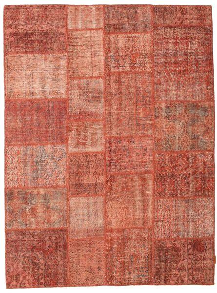 パッチワーク 絨毯 171X230 モダン 手織り 赤/ライトピンク (ウール, トルコ)
