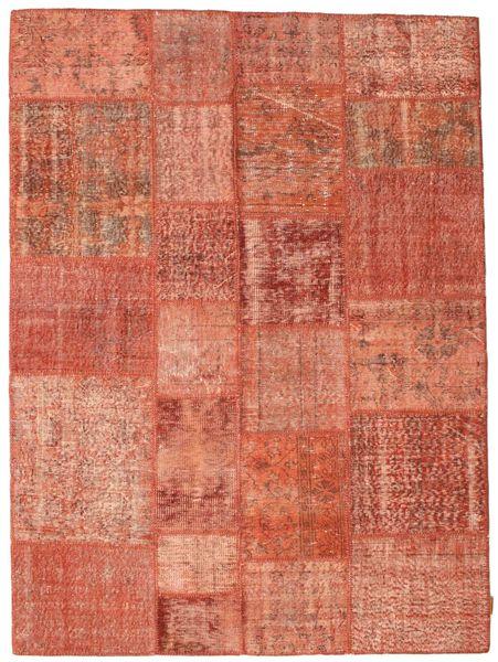 Patchwork Matto 171X233 Moderni Käsinsolmittu Vaaleanruskea/Vaaleanpunainen (Villa, Turkki)