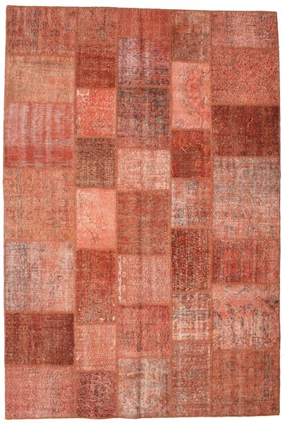 Patchwork Rug 201X300 Authentic  Modern Handknotted Light Brown/Rust Red (Wool, Turkey)