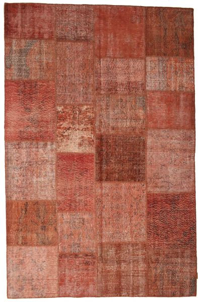 Patchwork Rug 197X302 Authentic  Modern Handknotted Rust Red/Light Brown (Wool, Turkey)