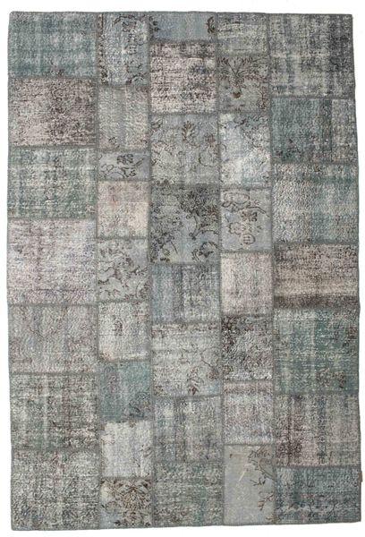 Patchwork Rug 200X296 Authentic  Modern Handknotted Light Grey/Dark Grey (Wool, Turkey)