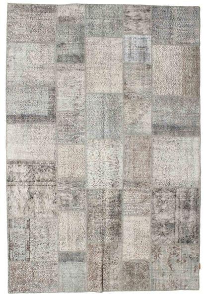 Patchwork Rug 205X303 Authentic  Modern Handknotted Light Grey (Wool, Turkey)