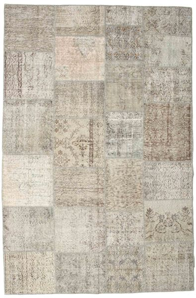 Patchwork Rug 198X300 Authentic  Modern Handknotted Light Brown/Light Grey (Wool, Turkey)