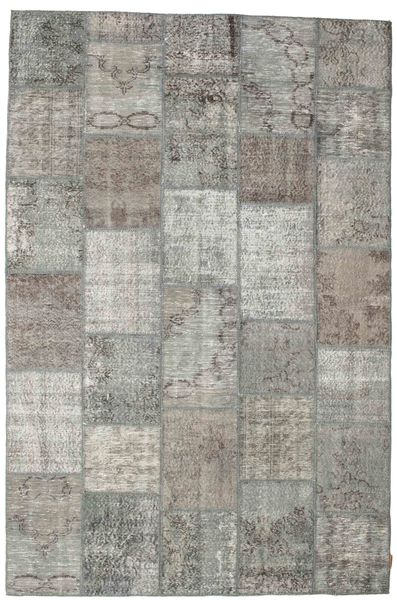 Patchwork Rug 198X300 Authentic  Modern Handknotted Light Grey/Dark Grey (Wool, Turkey)