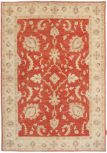 Ziegler Matto 147X210 Itämainen Käsinsolmittu Vaaleanruskea/Tummanbeige (Villa, Pakistan)