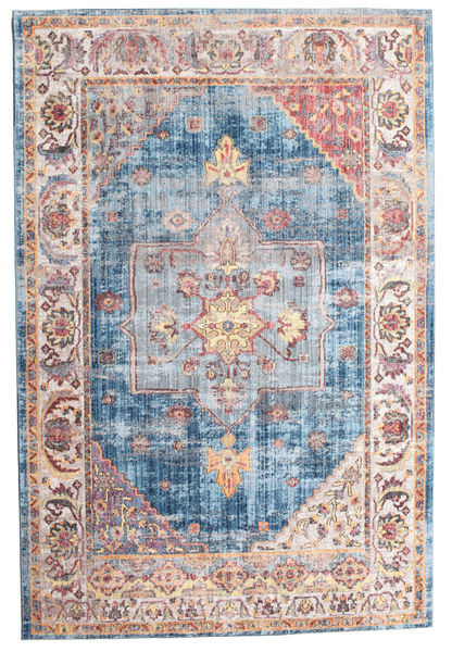 Khonsu - Donkerblauw Vloerkleed 200X300 Modern Licht Paars/Beige ( Turkije)