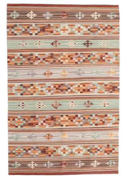 Kelim Anatolian Matto 100X160 Moderni Käsinkudottu Vaaleanruskea/Vaaleanharmaa (Villa, Intia)