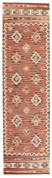 Kilim Malatya Rug 80X300 Authentic  Modern Handwoven Hallway Runner  Light Brown/Brown (Wool, India)