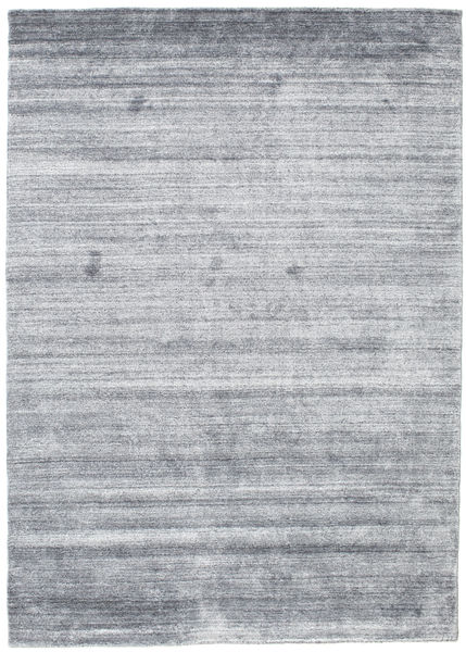 Bambu Silke Loom - Denim Blå Matta 140X200 Modern Ljusgrå/Ljusblå (Ull/Bambusilke, Indien)