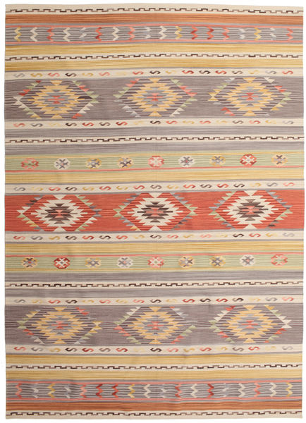 Kilim Nimrud Rug 240X340 Authentic  Modern Handwoven Light Grey/Dark Beige (Wool, India)