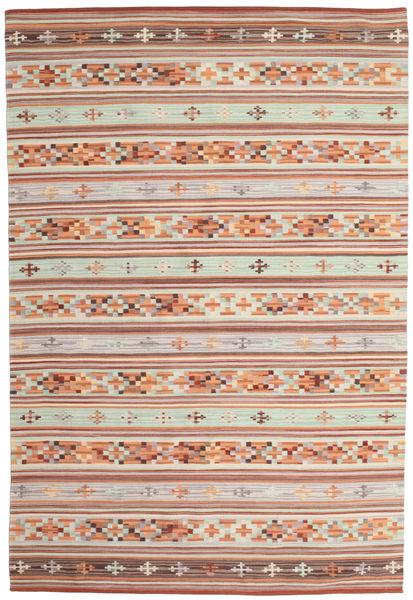 Kilim Anatolian Szőnyeg 190X290 Modern Kézi Szövésű Bézs/Világosbarna (Gyapjú, India)
