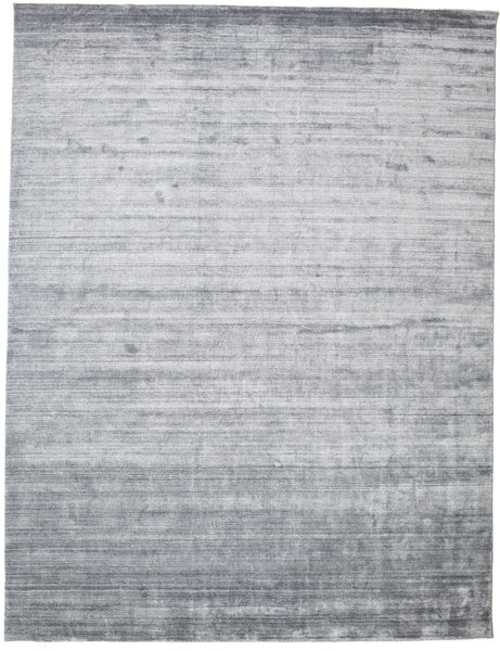 Bamboo Silk Loom - Denim Blue Rug 300X400 Modern Light Grey/Light Blue Large ( India)