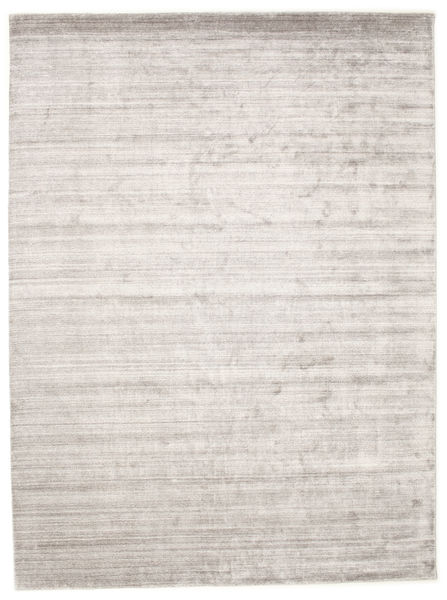 Bamboo Silk Loom - Warm Grey Rug 250X350 Modern Light Grey/White/Creme Large ( India)