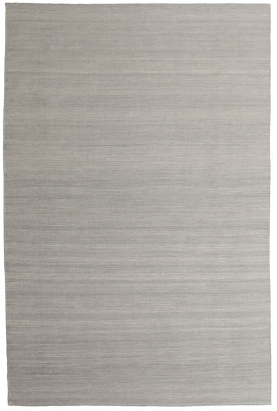 Kilim Loom - Grey Rug 200X300 Authentic  Modern Handwoven Light Grey (Wool, India)