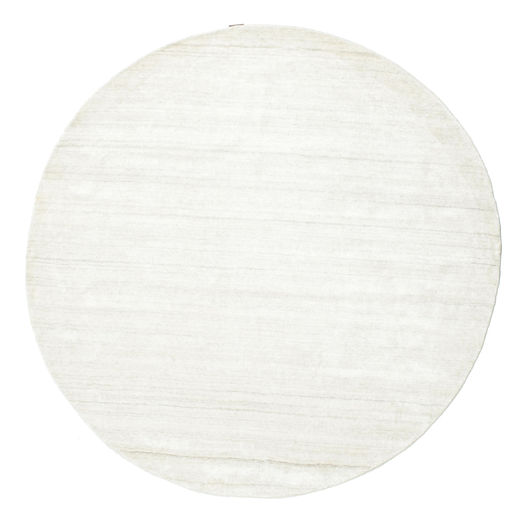 Bamboo Silk Loom - Light Natural Rug Ø 300 Modern Round Beige Large ( India)