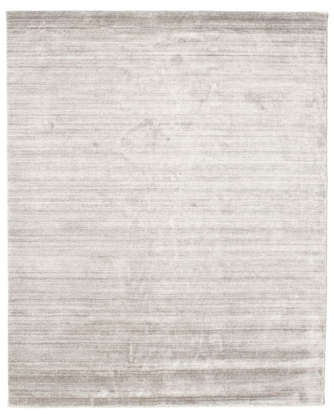 Bamboe Zijde Loom - Warm Grijs Vloerkleed 200X250 Modern Lichtgrijs/Wit/Creme ( India)
