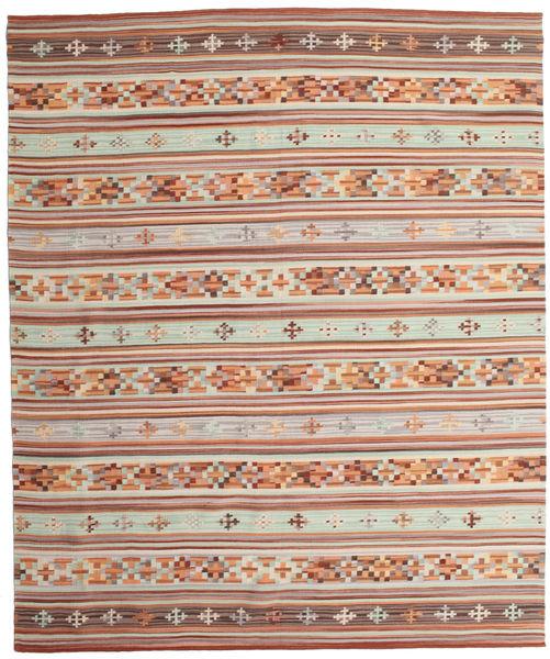 Kelim Anatolian Teppe 240X290 Ekte Moderne Håndvevd Lysbrun/Brun (Ull, India)