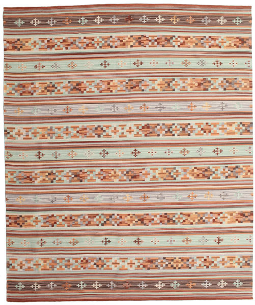 Kilim Anatolian Rug 240X290 Authentic  Modern Handwoven Dark Red/Light Grey (Wool, India)