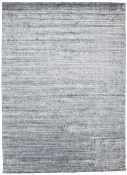 Bamboo Silk Loom - Denim Blue Rug 250X350 Modern Light Grey/White/Creme Large ( India)